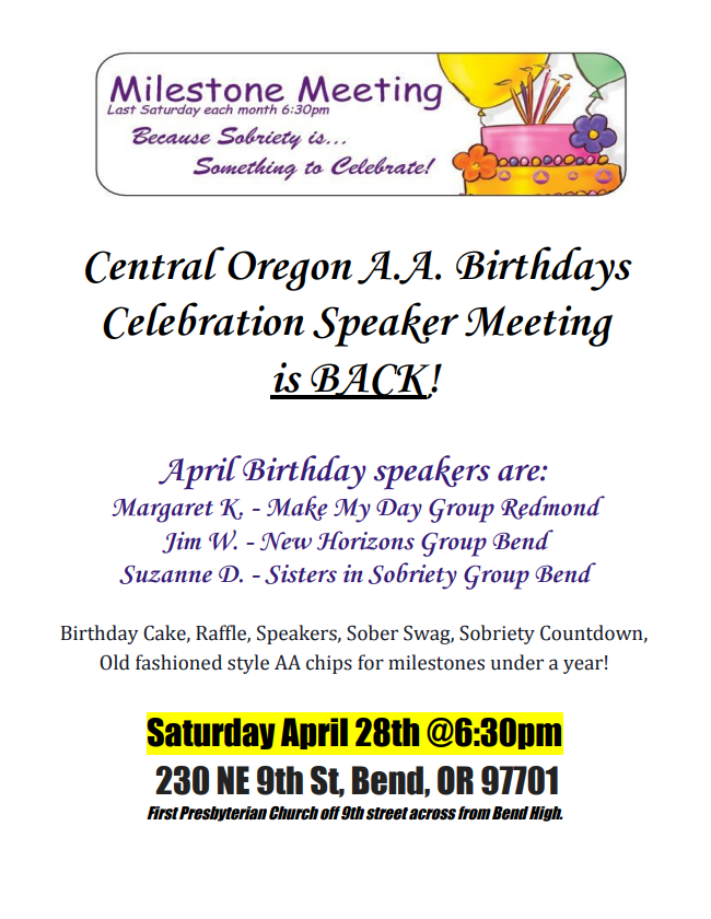 updated milestone meeting flyer central oregon intergroup of aa